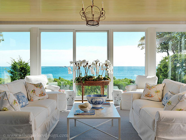 Ocean View Sun Room - Tropical - Family Room - boston - by ...