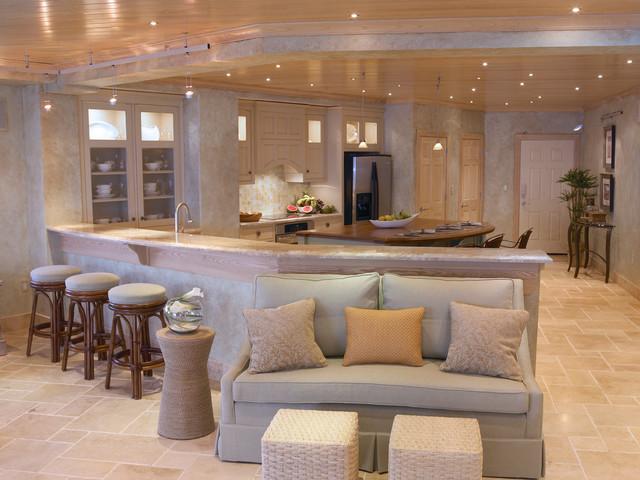 Oceanfront Condo contemporary-family-room