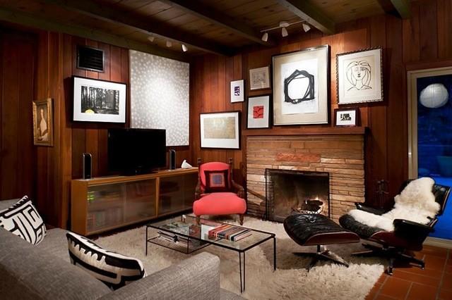 Ojai Rustic Modern Midcentury Family Room Santa