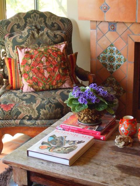 Old California Family Room mediterranean-family-room