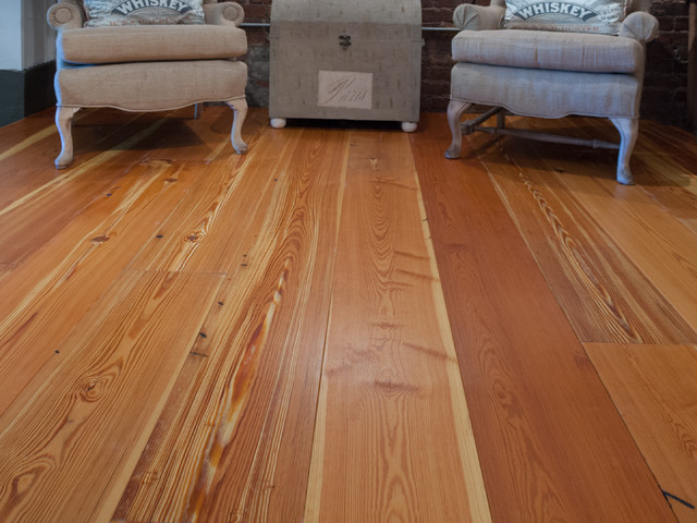 Old crow reclaimed heart pine flooring traditional for Pine wood flooring