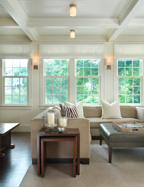 Wall Sconces For Home Office : Old Hingham Hill Family Room - Traditional - Family Room - Boston - by LDa Architecture & Interiors
