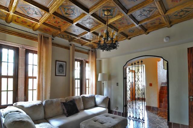 Old Spanish Villa Coral Gables Family Room Miami