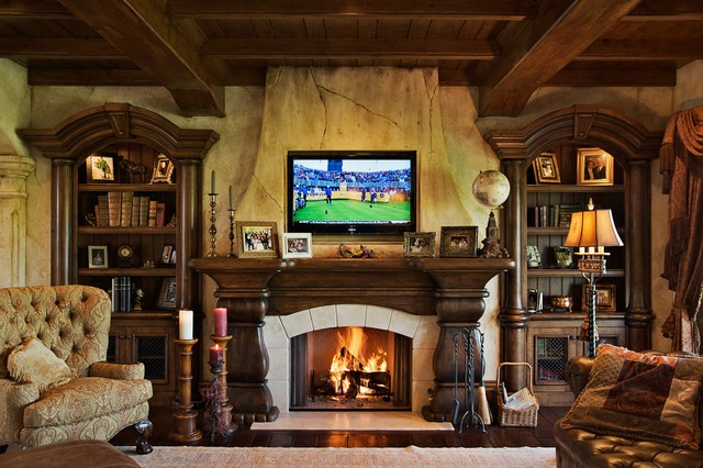 Houzz Family Rooms Traditional