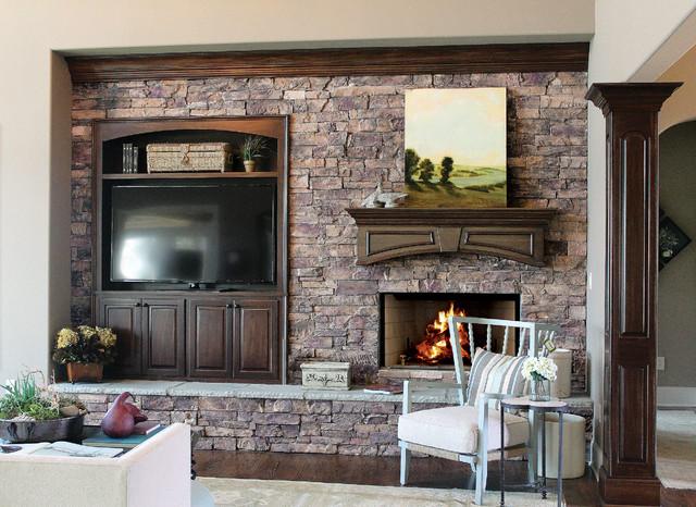old world ledge stone fireplace coronado stone products old world ledge stone traditional. Black Bedroom Furniture Sets. Home Design Ideas