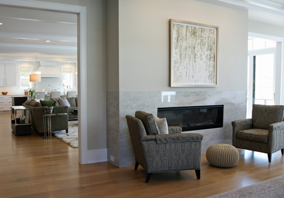 Open Concept Lake House Contemporary Family Room Milwaukee By Interior Changes Home Design Consulting