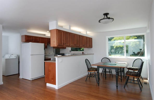 Open Plan Living Dining Kitchen Space Contemporary Family Room Seattle