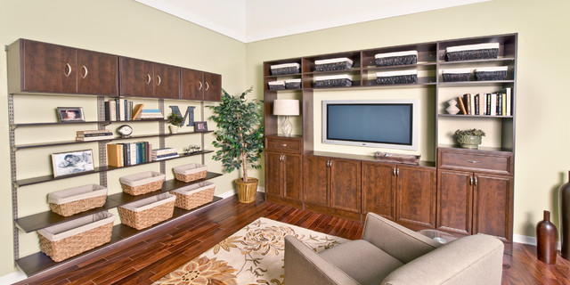 organized living chocolate pear living room traditional