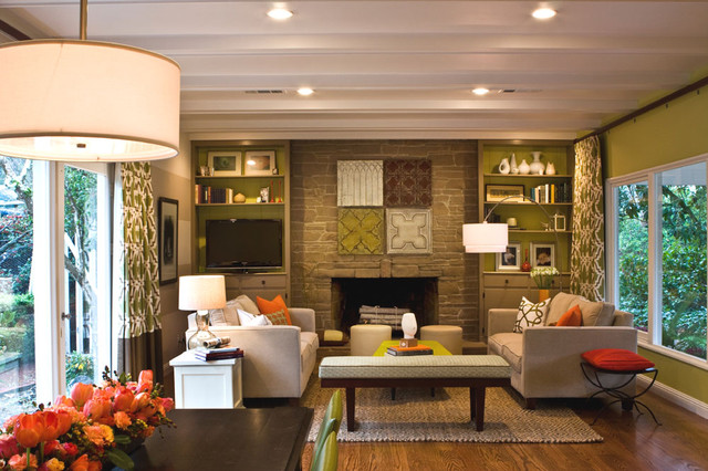 modern family room by Cecile Lozano Interiors