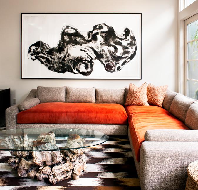 Family room - transitional family room idea in San Francisco