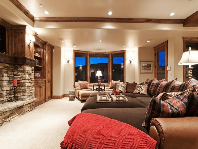 Park City Utah Showcase of Homes by Cameo Homes Inc. contemporary family room