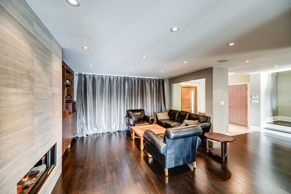 Trendy family room photo in Toronto