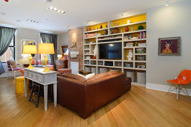 PAVONIA AVENUE eclectic-family-room