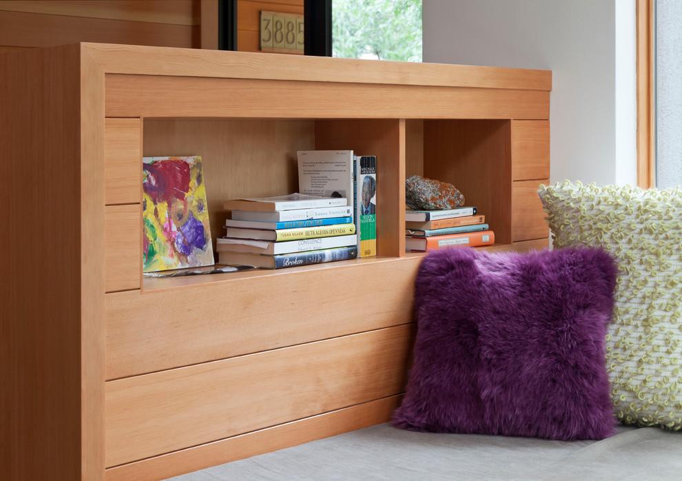 Inspiration for a modern family room remodel in Denver