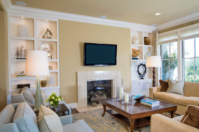 Pebble beach townhouse transitional family room san for Beach townhouse designs
