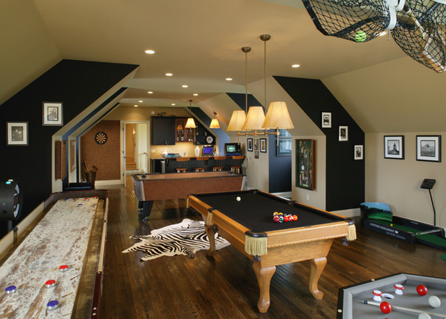 Period Colonial Home basement