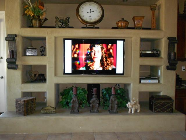Phoenix Custom Media Walls Rstico Sala de estar Phoenix