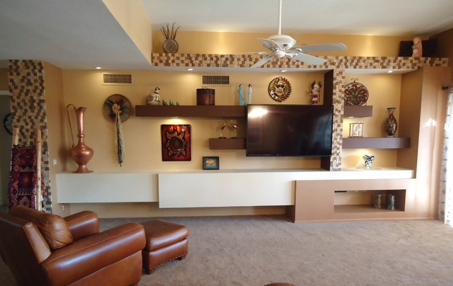 phoenix custom media walls modern family room
