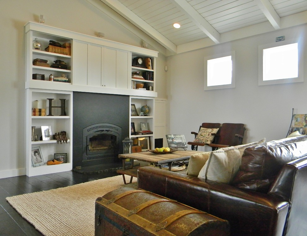 Example of a country family room design in Seattle