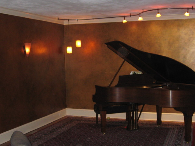 Piano Room traditional-family-room