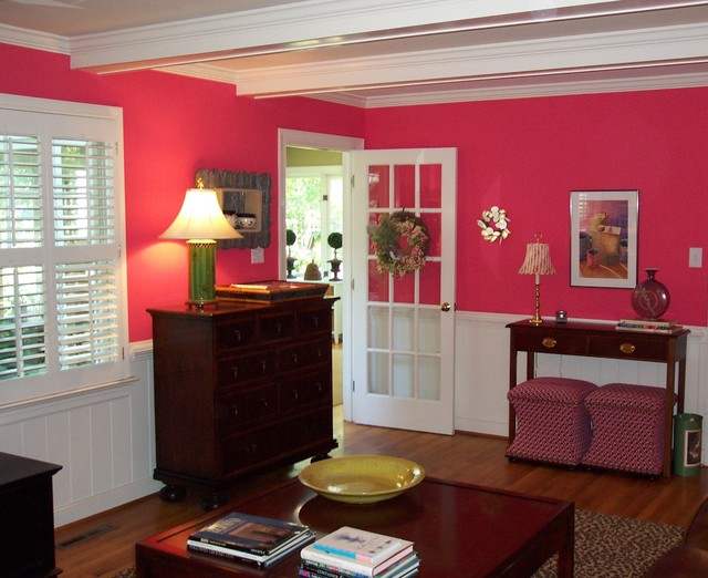 Pink Power traditional-family-room