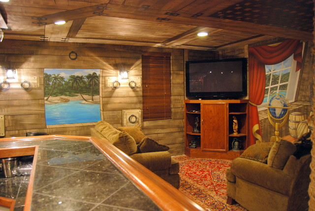 Pirate Ship Murals In Lower Level And Bar By Tom Taylor Of Mural Art LLC