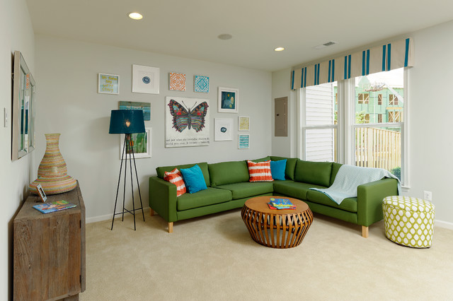 Plan H TH at Brambleton traditional-family-room