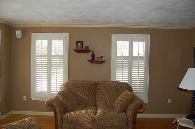 Plantation Shutters Traditional Family Room Boston