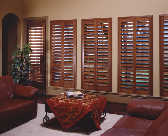 Plantation Shutters Wood Stained