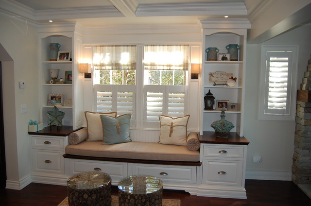 Platinum Designs New Jersey White Bookcase traditional-family-room