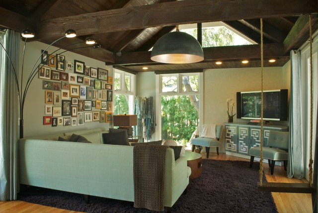 Playful in Pasadena contemporary-family-room