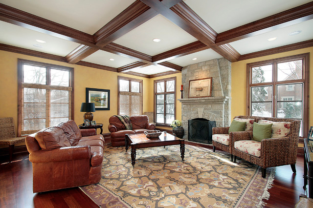 traditional family room by Reynolds Architecture- Northfield, Illinois