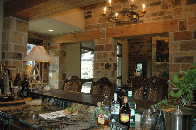 Ponderosa Ranch House - Traditional - Family Room - Austin ...