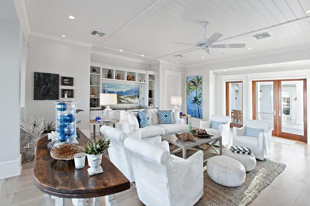 Ponte Vedra Residence Beach Style Family Room