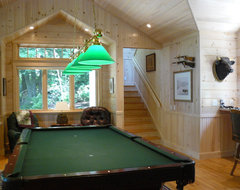 Pool Room traditional family room