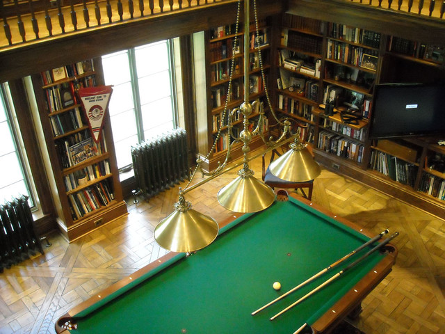 Pool Table Lighting traditional-family-room