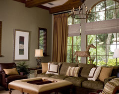anne rue traditional family room