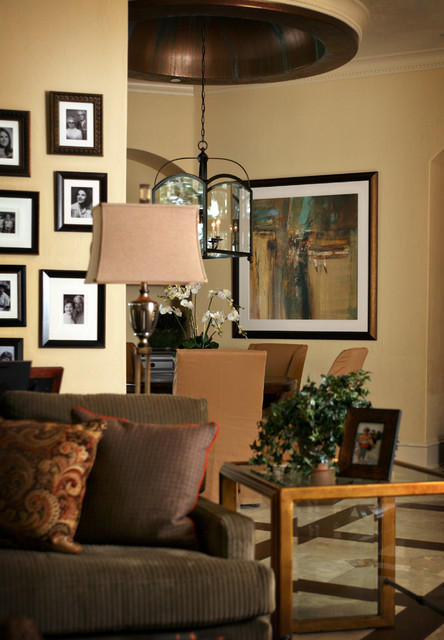 anne rue mediterranean family room