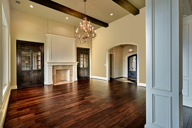Inspiration for a timeless family room remodel in Houston