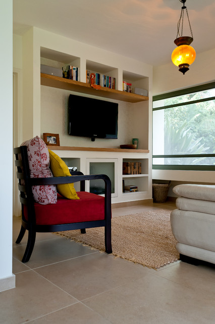 Private Home Kohav Yaair eclectic-family-room