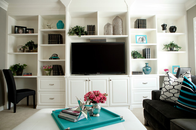 modern media room by Belmont Design Group
