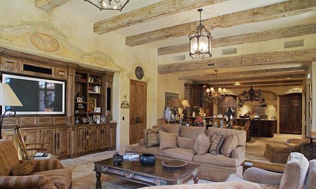 Private Residence mediterranean-family-room