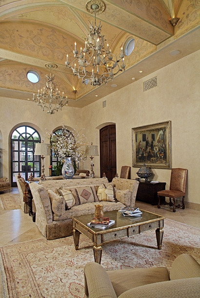 Private Residence mediterranean-family-room