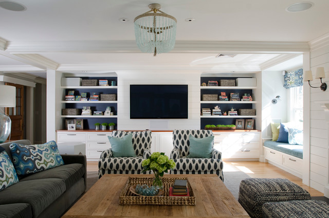 Fesselnd Room Of The Day: Refreshing Coastal Hues In A Family Friendly Space
