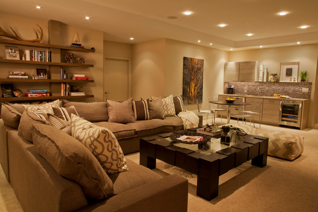 Private Residence - Rochester contemporary-family-room