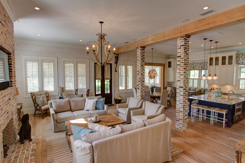 Beach Style Family Room By Santa Rosa Beach Interior Designers U0026 Decorators  30A Interiors