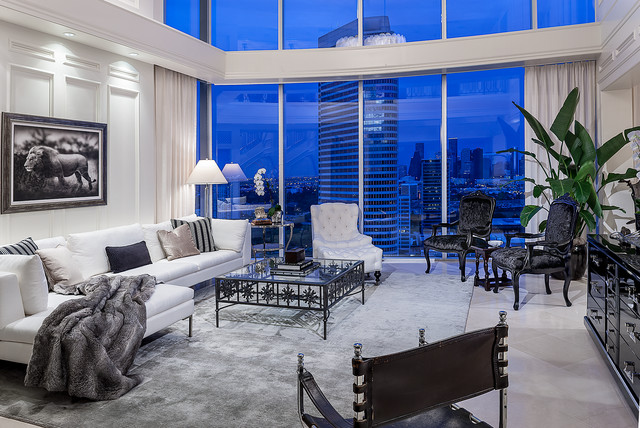 Project Two Contemporary Family Room Houston By