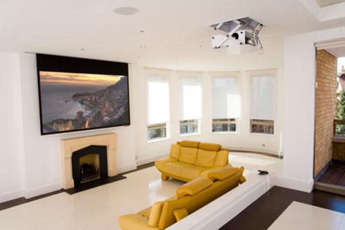 Projector Screens Mirror TV 39 S Creative TV Mounts Modern Family