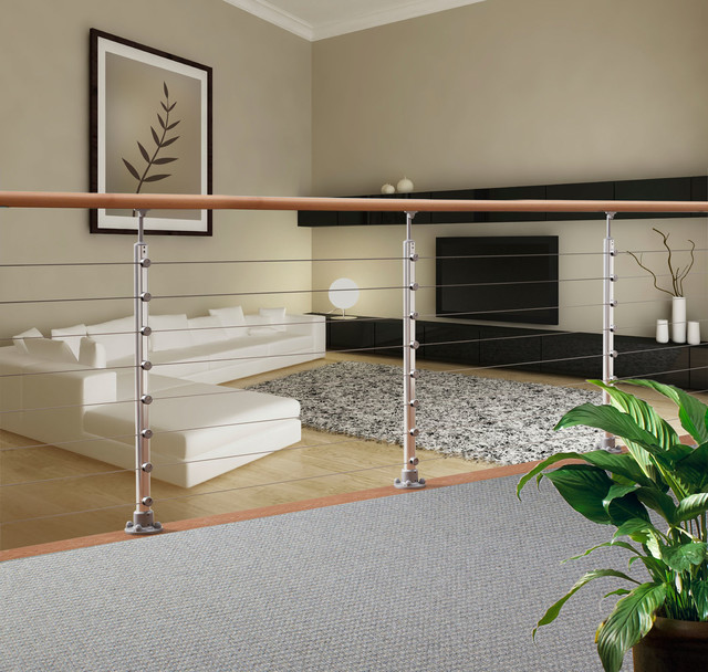 Prova Cable Railing System Modern Family Room