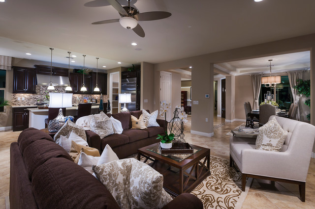 Pulte homes celebration model home vail arizona Model home family room pictures